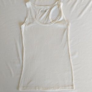 🔴 CHARLOTTE RUSSE Thin Cream Racerback Tank Top